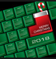 2018 creative keyboard christmas calendar vector image vector image
