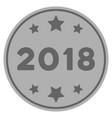2018 year silver coin vector image vector image