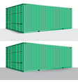 3d perspective green cargo container shipping vector image vector image