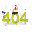 404 error page not found concept of vector image