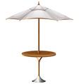 A table with a beach umbrella vector image