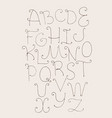 abc letters sequence from a to z capital letters vector image vector image