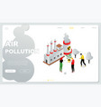 air pollution - modern colorful isometric vector image vector image