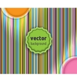 banner with multi-colored lines vector image