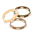 Beautiful Three Tambourine on A White Background vector image