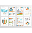 big set infographics elements business flyer vector image vector image