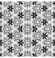 black and white vintage seamless pattern vector image vector image