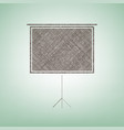 blank projection screen brown flax icon vector image vector image