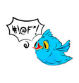 blue bird and swearing words in speech bubble vector image