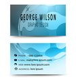 Business card blue vector image
