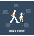 Business structure banner with people vector image vector image