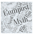 Compost Smells This and Other Composting Myths vector image vector image