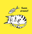 cute cat sketch vector image vector image