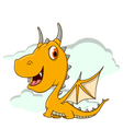 cute little dragon cartoon vector image vector image