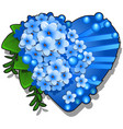 decor form heart blue color decorated with vector image vector image