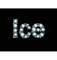 Diamond word ice vector image vector image