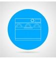 Dishwasher machine flat line icon vector image vector image