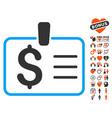 dollar badge icon with love bonus vector image