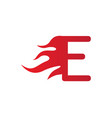 e letter fire symbol vector image
