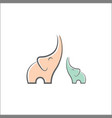 elephant outline logo simple vector image vector image
