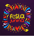 festa junina festival party flyer colorful vector image vector image