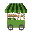 flowers cart icon vector image vector image