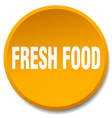 fresh food orange round flat isolated push button vector image vector image