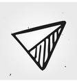 Hand drawn triangle abstract vector image vector image