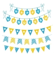 Hanukkah set garlands ribbons Hanukkah set for a vector image vector image