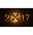 Happy New Year clock vector image vector image
