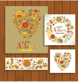 Hello Autumn banner set in doodle style vector image vector image