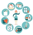 House work concept vector image vector image