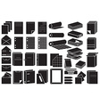 icons paper and folders vector image vector image