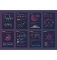 Infographics brochures templates for vector image