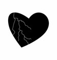 isolated black heart vector image vector image