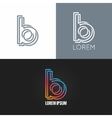 letter B logo alphabet design icon set background vector image vector image