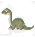 Little Brontosaurus isolated on white background vector image