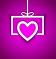 love gift with shadow effect vector image vector image