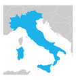 map italy green highlighted with neighbor vector image vector image