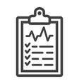 medical clipboard line icon medicine vector image