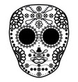 mexican skull death mask vector image