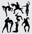 modern dance male and female action silhouette vector image