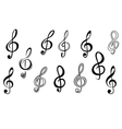 Music note keys vector | Price: 1 Credit (USD $1)