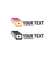 online education logo vector image vector image