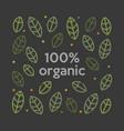 organic 100 logo vector image