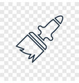 paint brush concept linear icon isolated on vector image