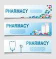 pharmacy poster design banner for medical or vector image vector image
