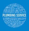 plumbing service blue banner vector image vector image