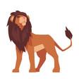 proud powerful lion mammal jungle animal vector image vector image