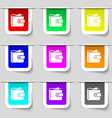 Purse icon sign Set of multicolored modern labels vector image vector image